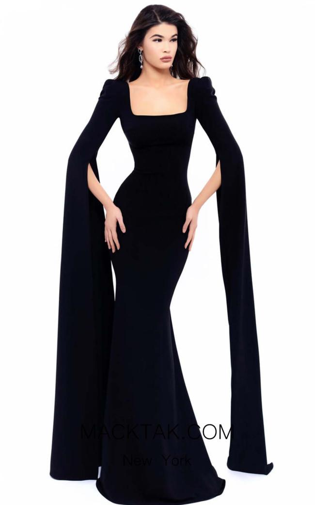 Tarik Ediz 93302 Black Front Dress
