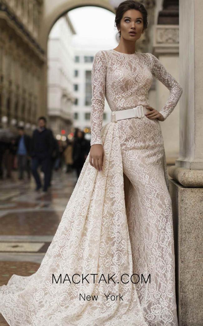 Tarik Ediz 93608 Ivory Dress