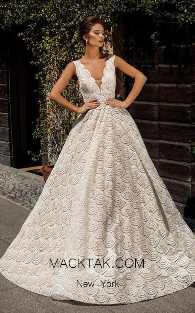 Tarik Ediz 93631 Ivory Front Dress