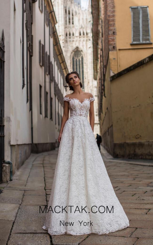 Tarik Ediz 93644 Ivory Front Dress
