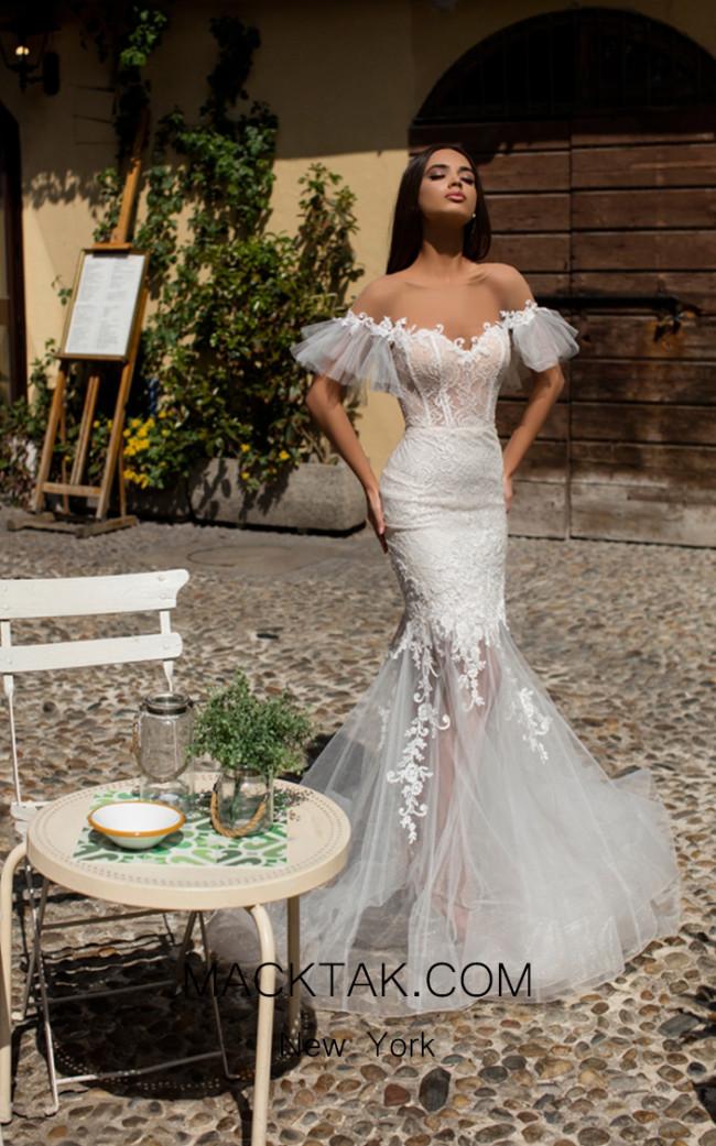 Tarik Ediz 93645 Ivory Front Dress