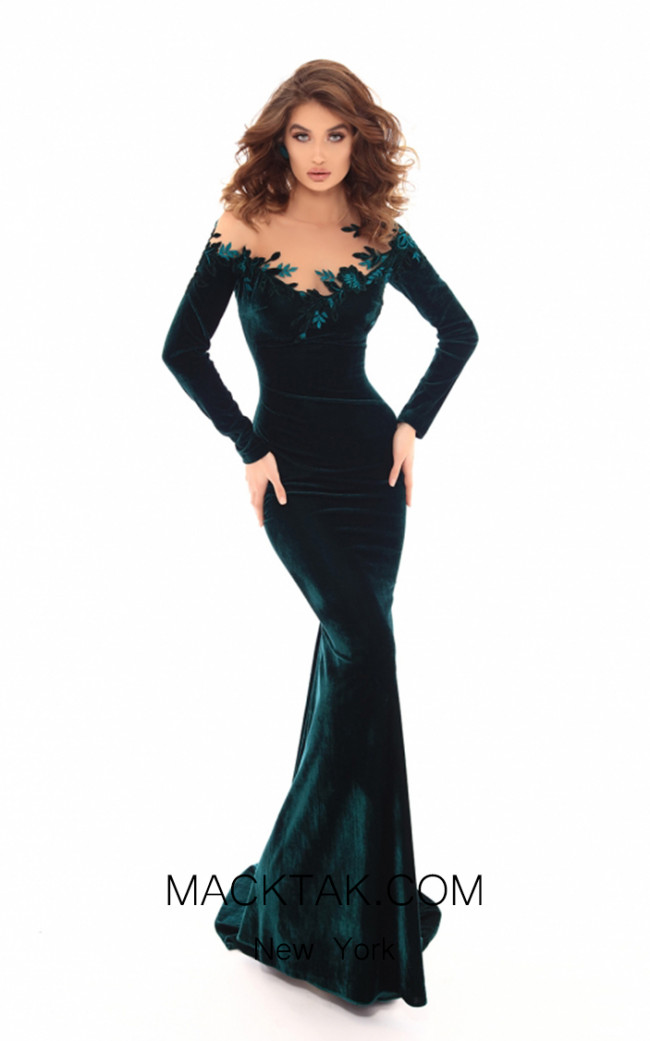 Tarik Ediz 93663 Emerald Front Dress