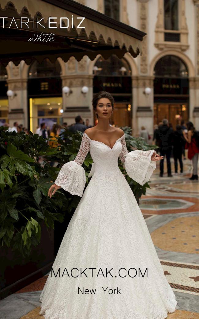 Tarik Ediz 93686 Ivory Front Dress