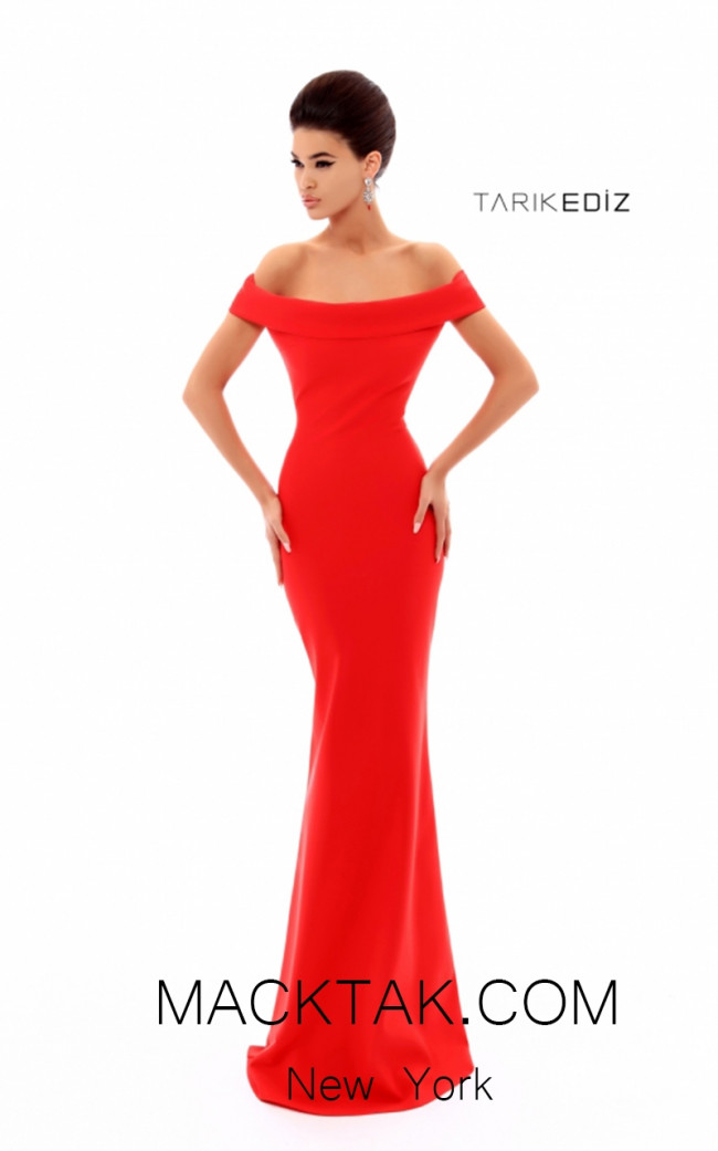 Tarik Ediz 50274 Prom Red Front Dress