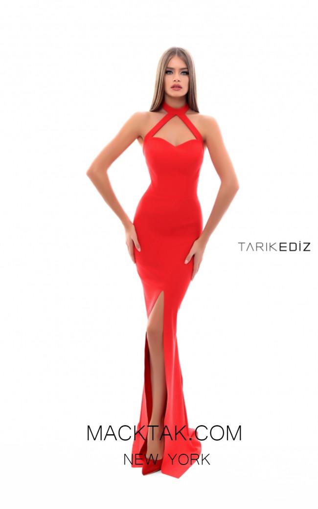 Tarik Ediz 50330 Red Front Prom Dress
