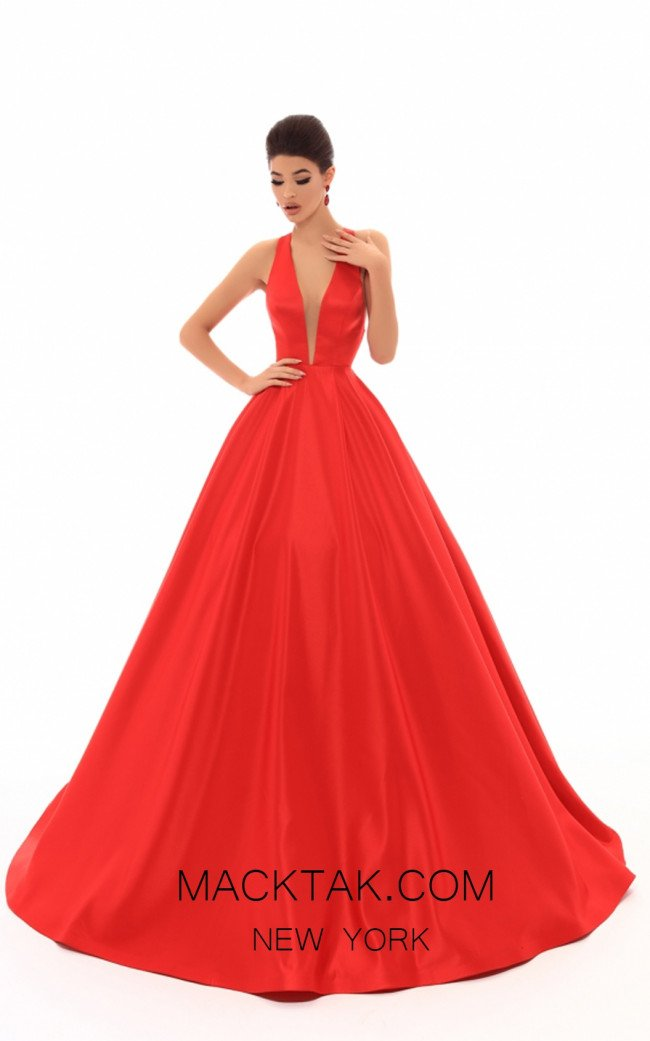 Tarik Ediz 50401 Red Front Prom Dress