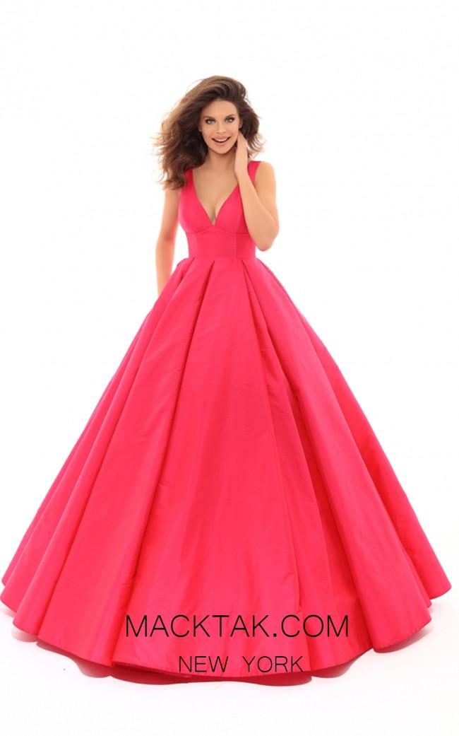 Tarik Ediz 50402 Red Front Prom Dress