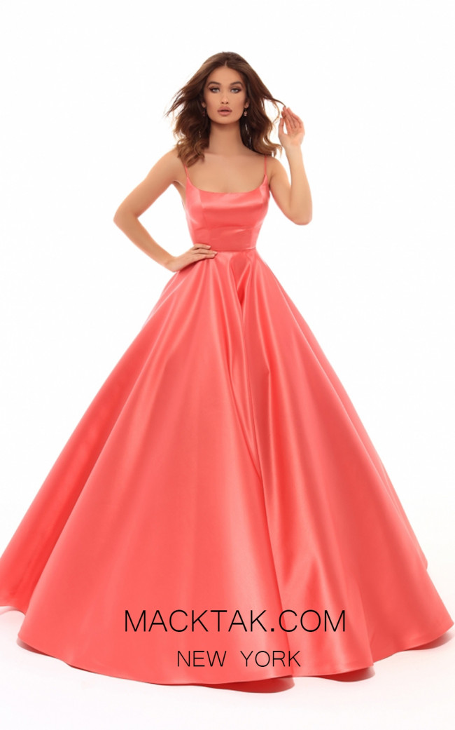 Tarik Ediz 50403 Coral Front Prom Dress