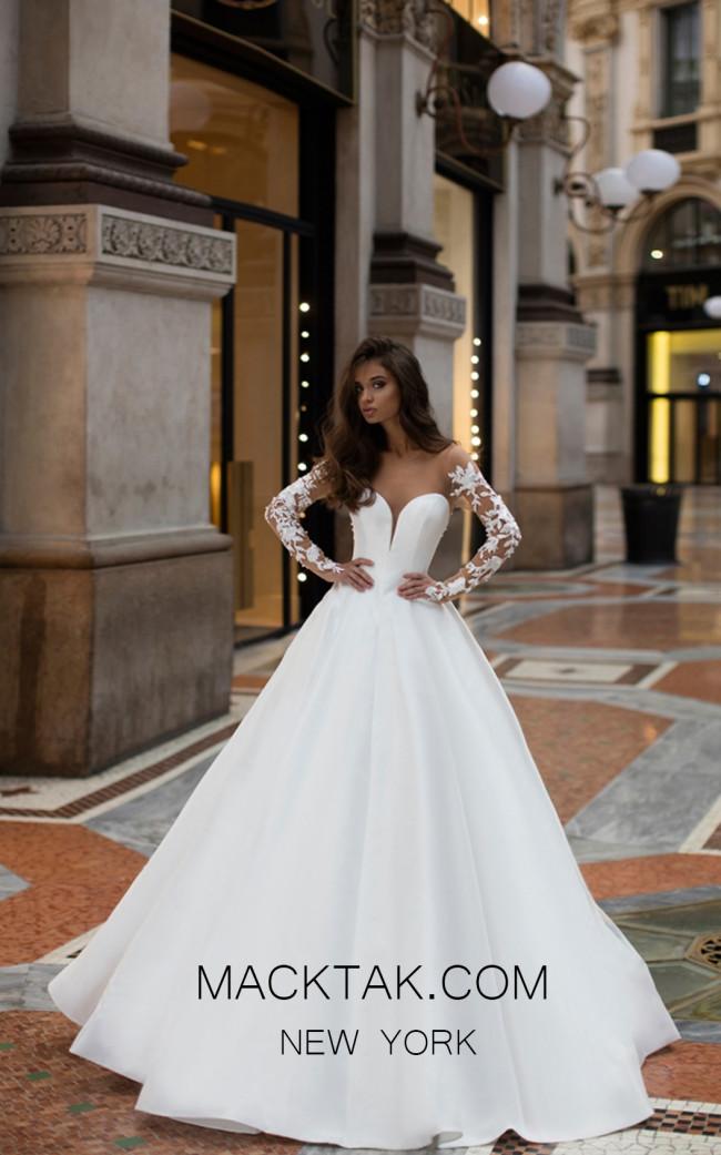 Tarik Ediz 50408 Ivory Front Prom Dress