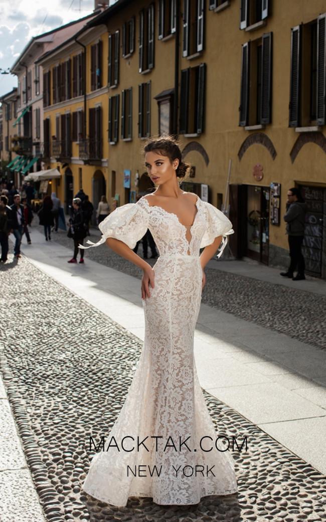 Tarik Ediz 50411 Ivory Front Prom Dress