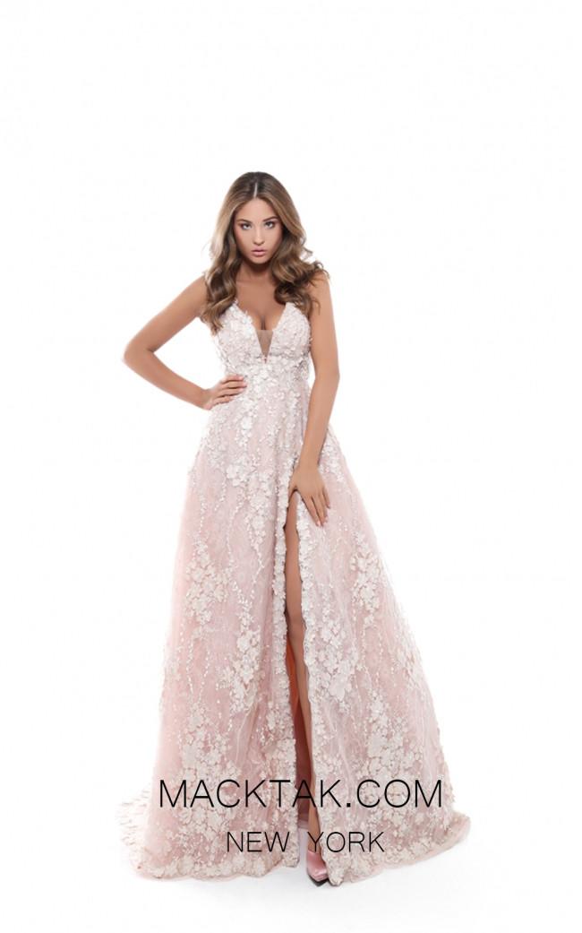 Tarik Ediz 50418 Ivory Front Prom Dress