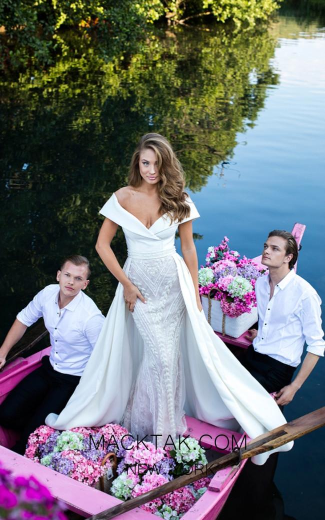 Tarik Ediz 50437 Ivory Front Prom Dress
