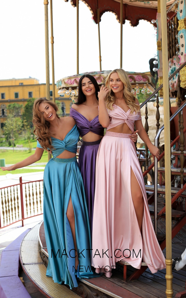 Tarik Ediz 50447 Colorfull Prom Dress