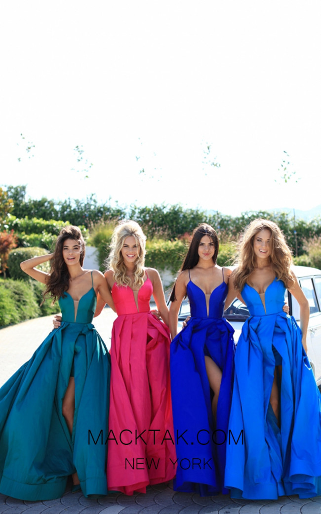 Tarik Ediz 50464 Colorfull Prom Dress