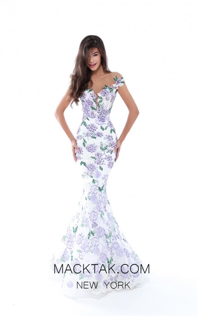 Tarik Ediz 50493 Lilac Front Prom Dress