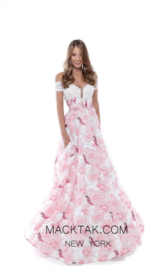 Tarik Ediz 50496 Pink Front Prom Dress