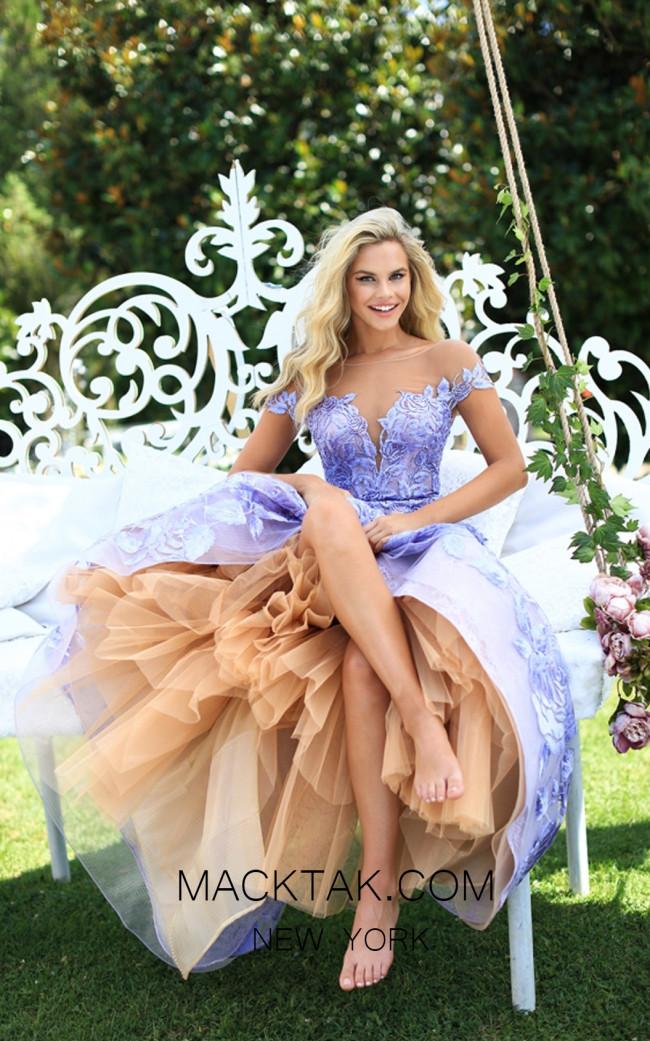 Tarik Ediz 50500 Lilac Dress