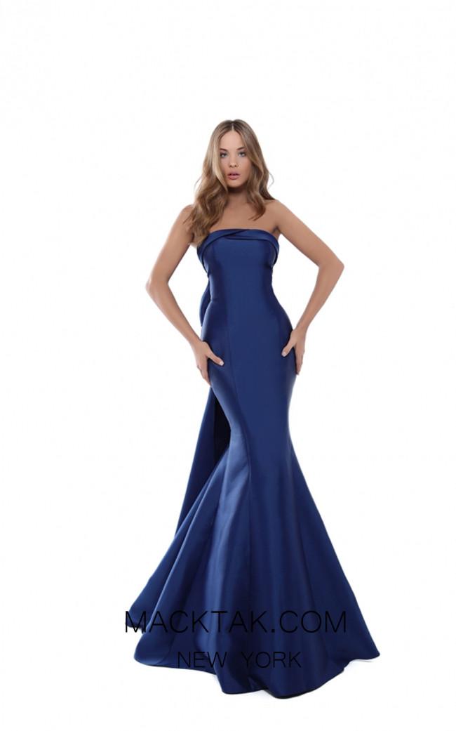 Tarik Ediz 50505 Navy Front Prom Dress