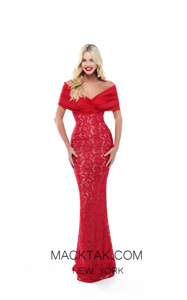 Tarik Ediz 50506 Red Front Prom Dress