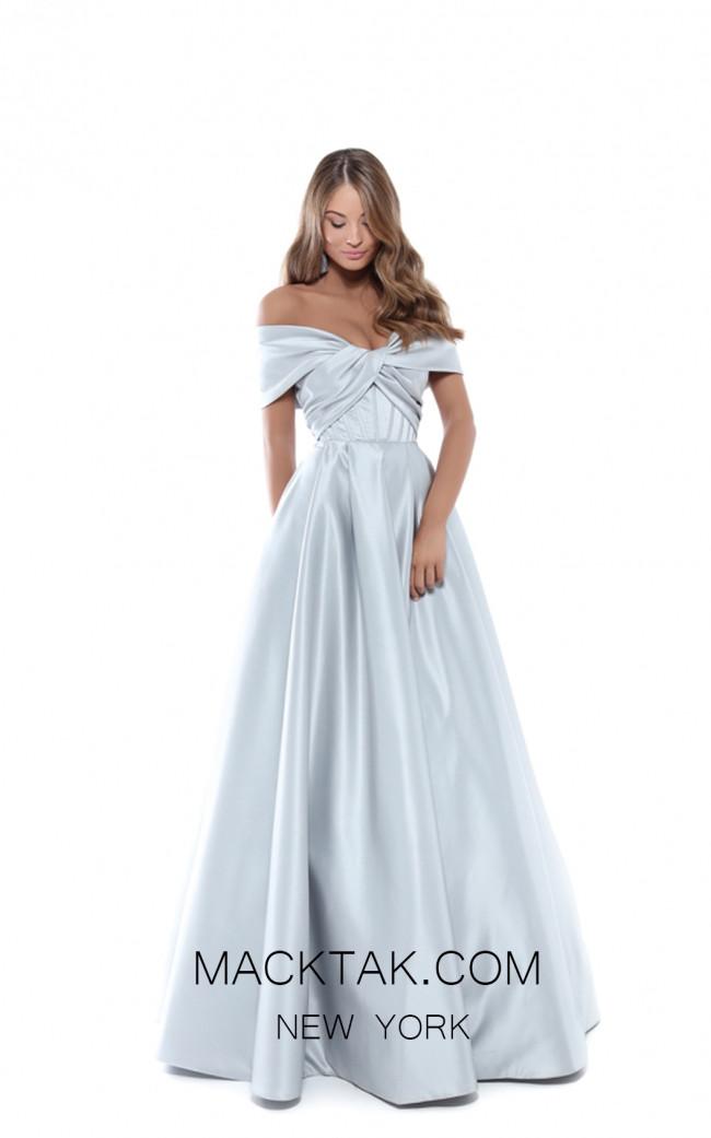Tarik Ediz 50508 Silver Front Prom Dress