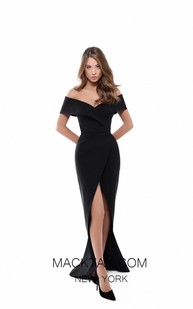 Tarik Ediz 50521 Black Front Prom Dress