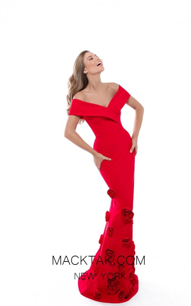 Tarik Ediz 50522 Red Front Prom Dress