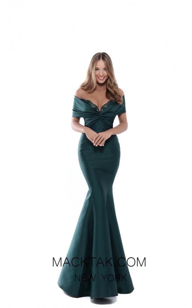 Tarik Ediz 50536 Emerald Front Prom Dress