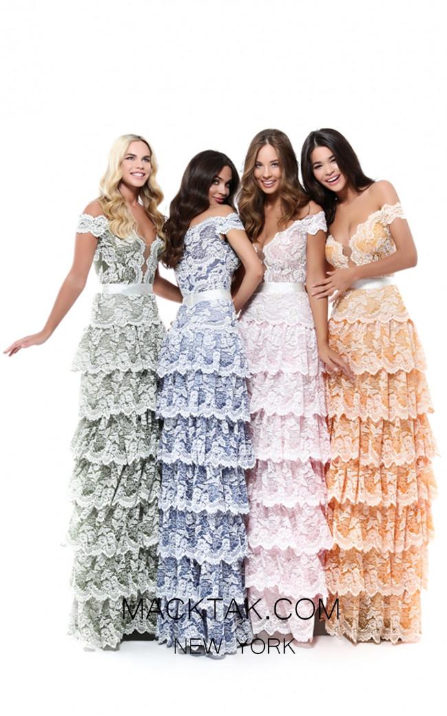 Tarik Ediz 50544 Colorfull Prom Dress
