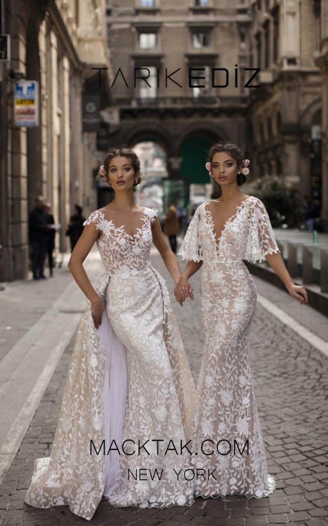 Tarik Ediz 93613 Ivory Dress