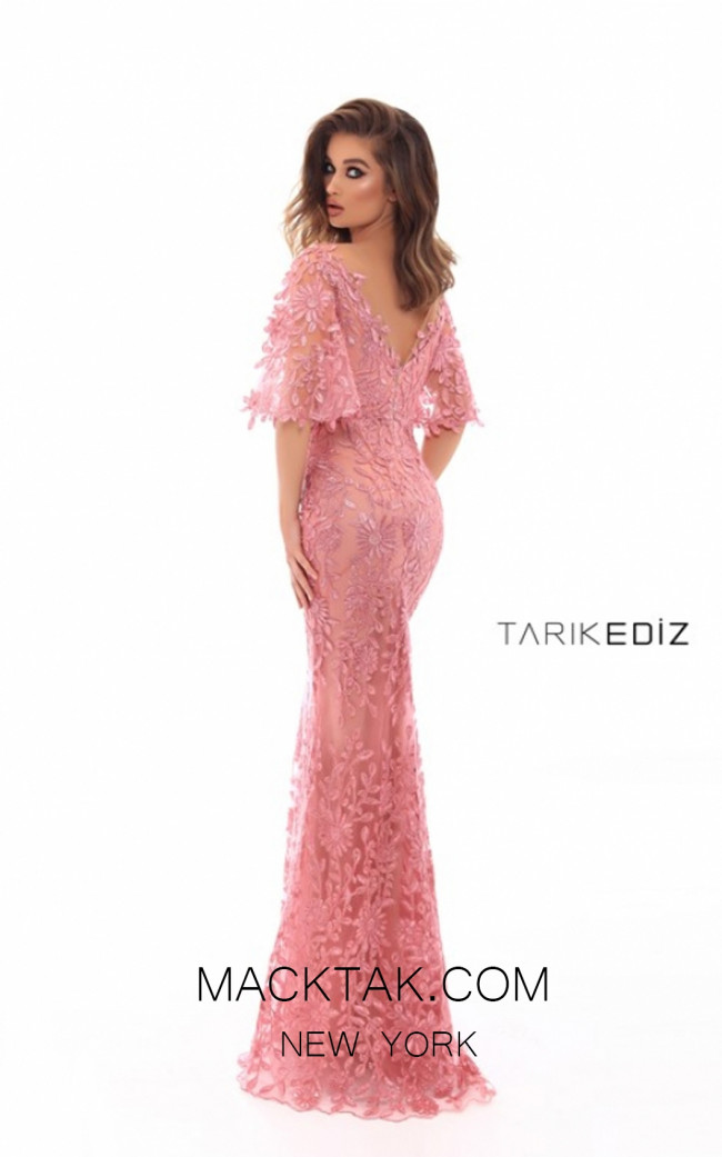 Tarik Ediz 93616 Dark Rose Back Prom Dress