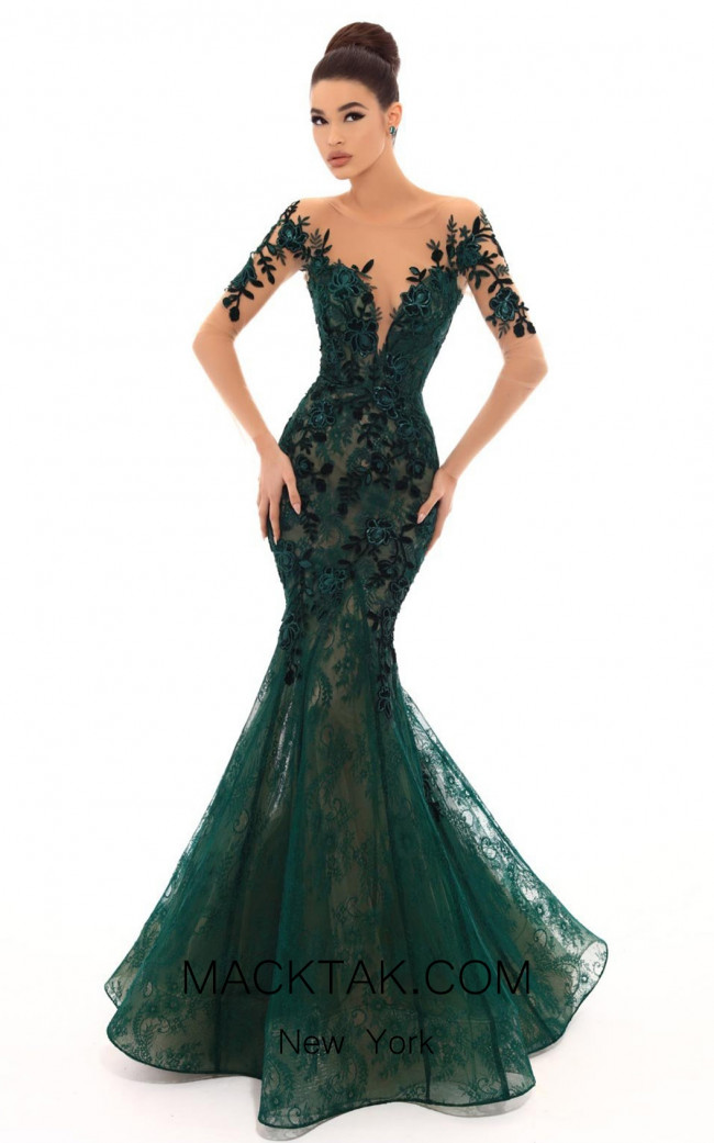 Tarik Ediz 93669 Emerald Front Dress