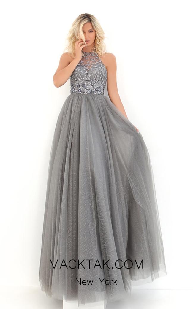 Tarik Ediz 50692 Silver Front Dress
