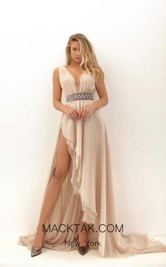 Tarik Ediz 50701 Stone Front Dress