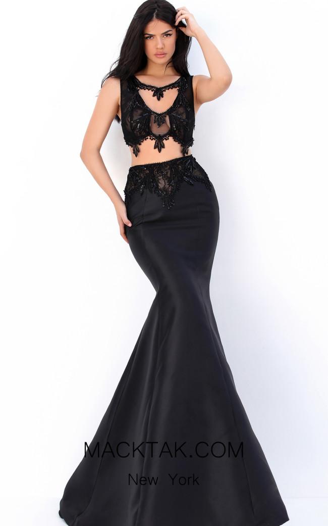 Tarik Ediz 50745 Black Front Dress