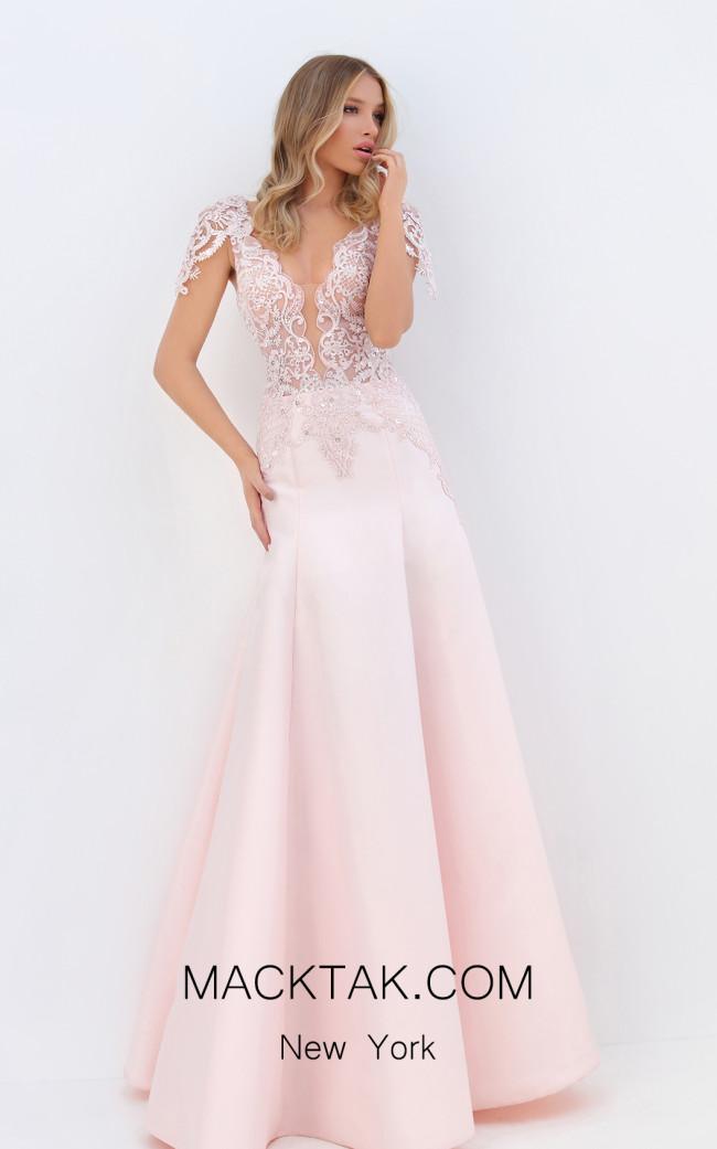 Tarik Ediz 50746 Pink Front Dress