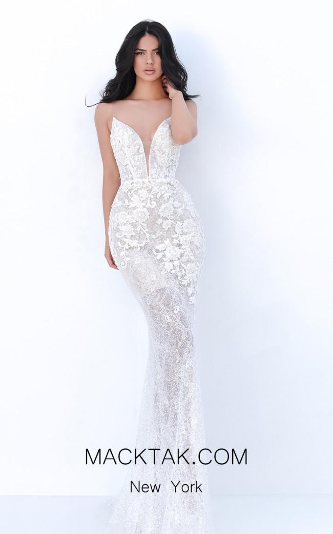 Tarik Ediz 50750 Ivory Front Dress