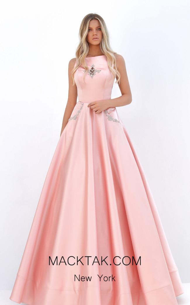 Tarik Ediz 50752 Salmon Front Dress