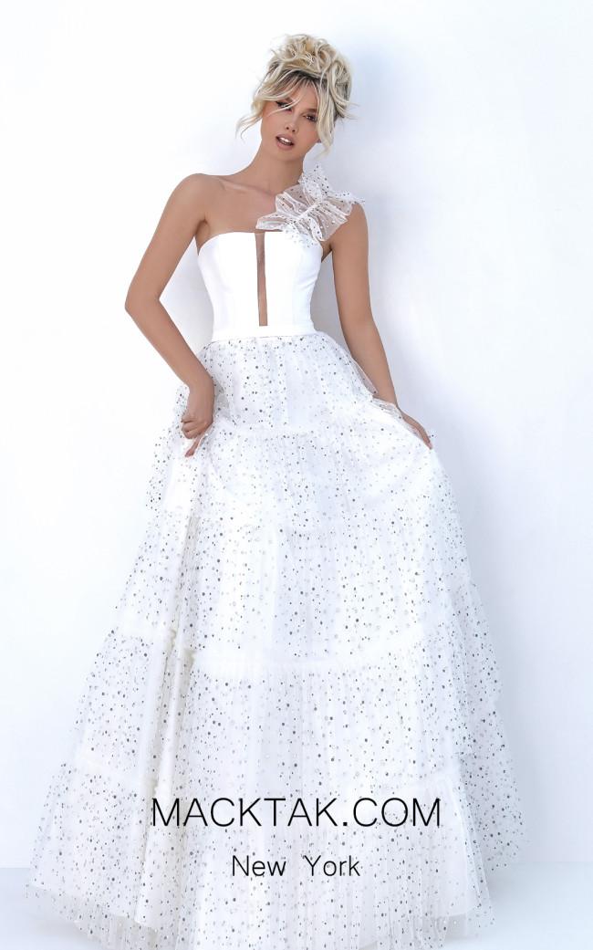Tarik Ediz 50754 Ivory Front Dress