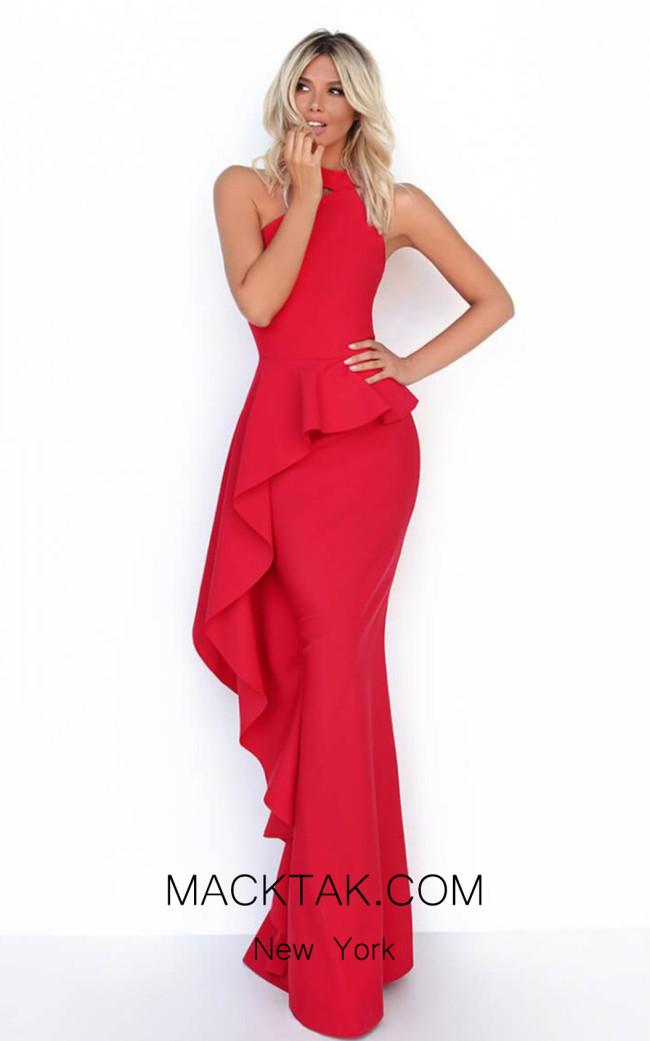 Tarik Ediz 50779 Red Front Dress