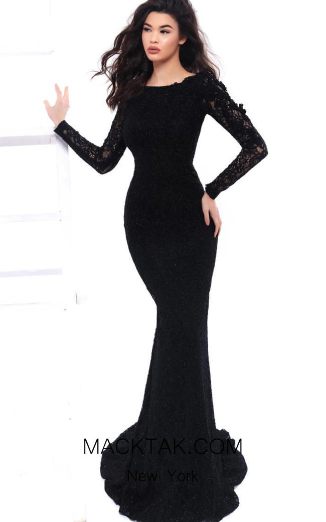 Tarik Ediz 93306 Black Front Dress