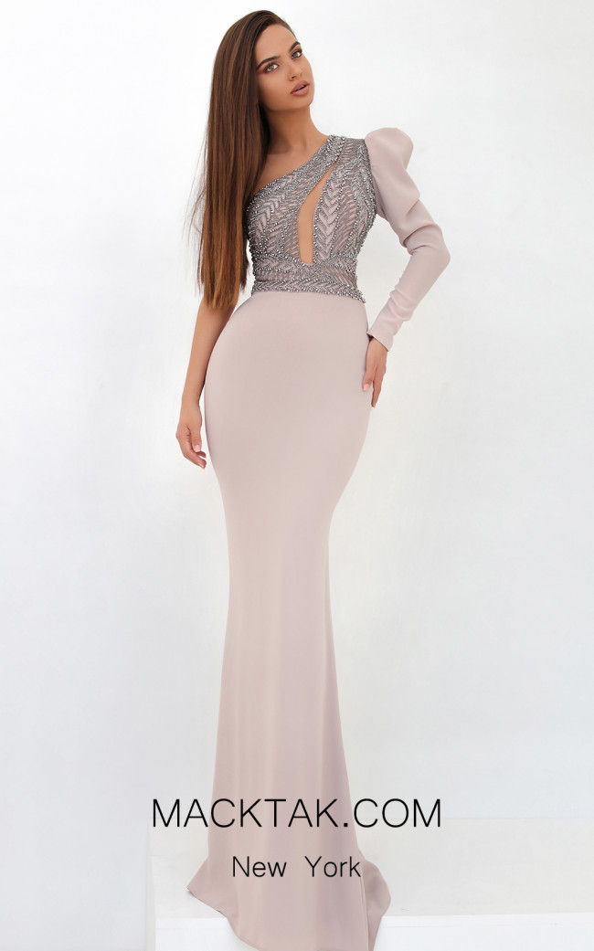 Tarik Ediz 93858 Powder Front Dress