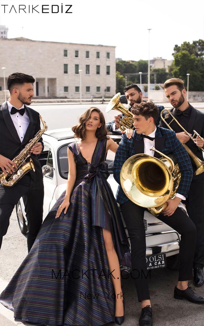 Tarik Ediz 93910 Front Evening Dress