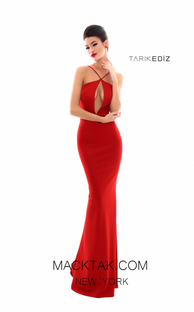 Tarik Ediz 50305 Red Front Prom Dress
