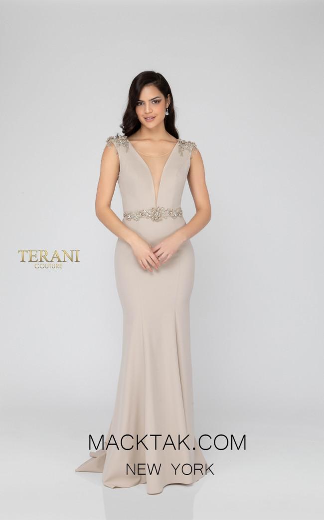 Terani 1911E9601 Stone Front Evening Dress