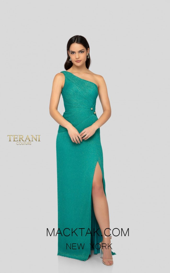 Terani 1911E9610 Turquoise Front Evening Dress