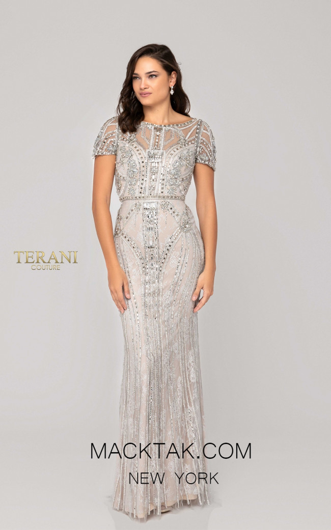 Terani 1911GL9487 Platinium Front Pageant Dress