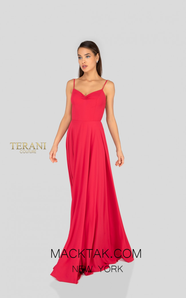 Terani 1912B9694 Bridesmaid Poppy Front Dress