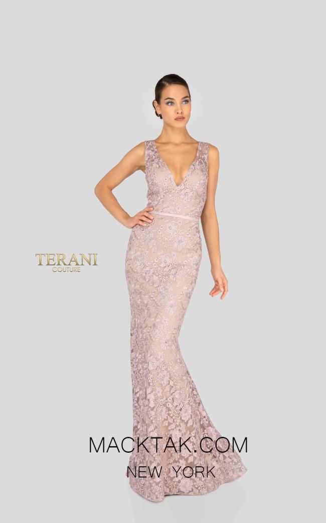 Terani 1912E9163 Evening Dress Blush Front Dress