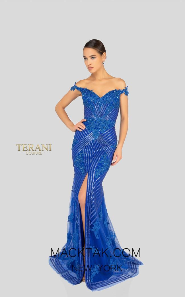 Terani 1912GL9572 Royal Front Pageant Dress