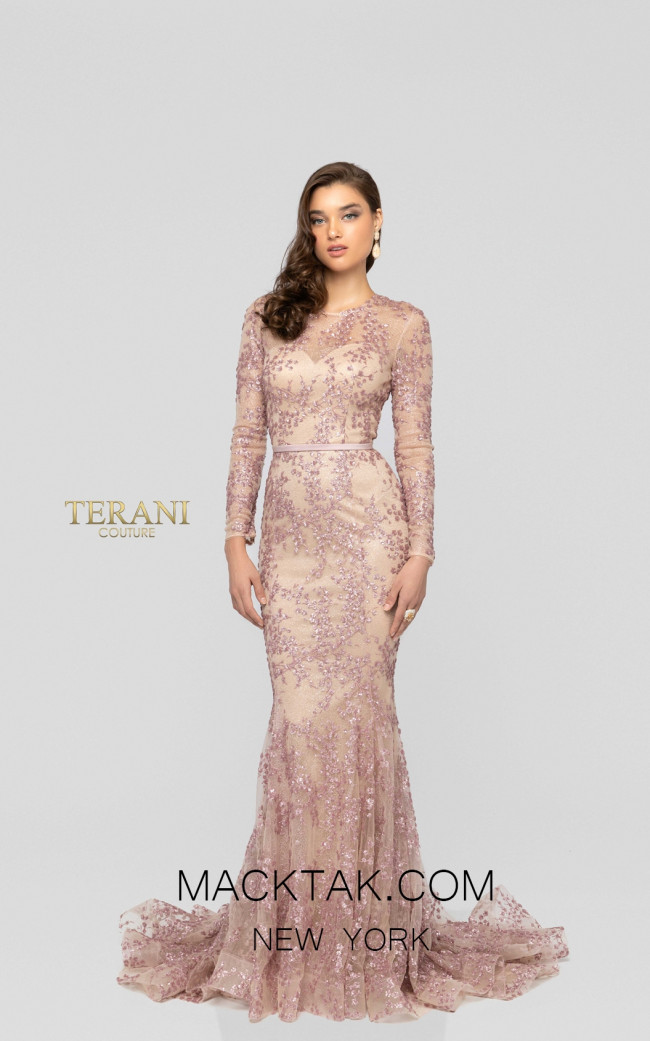 Terani 1913E9271 Champagne Orchid Front Evening Dress
